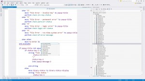 Editing code in Visual Studio, with Visual COBOL 2015 Editor