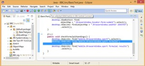 Image 2 – IDE test creation – either in Eclipse or Visual Studio
