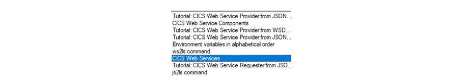 CICS Web Services Tutorial